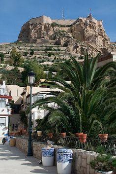 The castle Santa Barbara, Central Alicante.