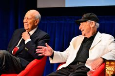 "LA Times: Mel Brooks & Carl Reiner, joined in comedy history as the 2,000-year-old man and his interviewer, and joined at the hip in life, made a tandem, two-headed appearance Monday afternoon at the Paley Center for Media in Beverly Hills. With Judd Apatow as moderating host, it was the inaugural event in #Comedyfest. Brooks is being much feted at the moment -- the PBS series ""American Masters"" will pay him tribute May 20, while Shout! Factory will release ""Mel Brooks: Make a Noise"" on…"