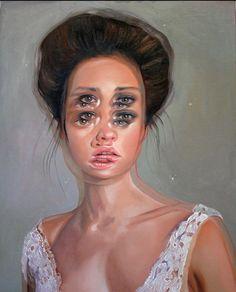 Alex Garant's Double-Eyed Oil Paintings | Hi-Fructose Magazine