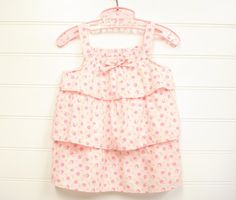 Vintage Baby Clothes Baby Girl Dress in Pink di OnceUponADaizy, $14.00