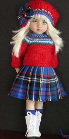 Effner Little Darling Dolls Handmade Knit Outfits Plaid Girl Doll Clothes, Doll Clothes Patterns, Girl Dolls, Baby Dolls, Pretty Dolls, Cute Dolls, Beautiful Dolls, Lifelike Dolls, Little Doll