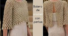 Elegant crochet bolero decorated with beads, for a special occasion. Done at point solomon, this work in crochet is beautiful and chic. Crochet Bolero Pattern, Cardigan Au Crochet, Crochet Jacket, Crochet Cardigan, Crochet Shawl, Crochet Stitches, Crochet Patterns, Crochet Shrugs, Crochet Sweaters