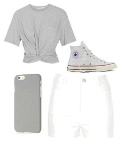 """"""".........."""" by jmaq22 ❤ liked on Polyvore featuring T By Alexander Wang, River Island, Converse and Klix"""