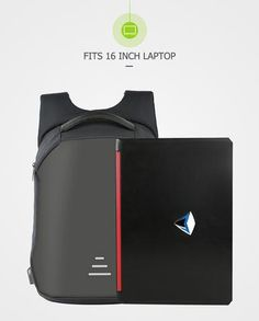 c54646e113e86 Anti-theft Men's Backpack For 15.6 Inch Laptop With External USB -  Black,Blue,Gray,Red