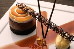 Flourless Chocolate Mousse Cake Recipe with Peppermint Ice Cream _ Executive Pastry Chef Michael Owens Palm Terrace Restaurant & Lounge NEWPORT BEACH, CA