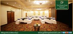 Spacious meeting rooms of Golden Palms Hotel & Spa, Bengaluru, with all the modern technological amenities, is the perfect destination to accommodate business sessions. Visit www.goldenpalmshotel.com for more details. #MagnificentMondays