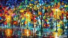 colorblind — PALETTE KNIFE Oil Painting On Canvas By Leonid Afremov studio / Afremov Art auction Paintings By Leonid Afremov. on imgfave