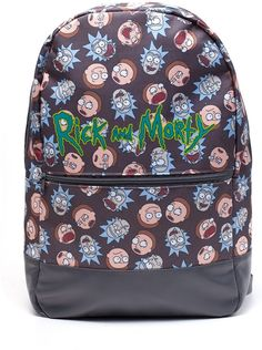 8841343cc92 Rick And Morty - Logo and Big Faces Backpack Rugzak Rugzak