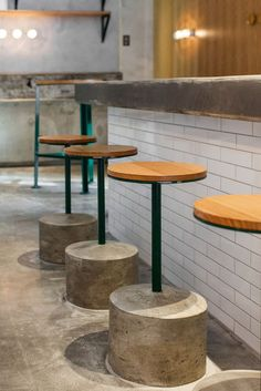 Not so typical diner furniture from Nordburger - Norwood, Adelaide Urban Spaces Spaces Restaurants and Cafes restaurant design interiors interior design The Loft Brokers Australian Interior Design, Interior Design Awards, Restaurant Interior Design, Design Interiors, Wood Interior Design, Concrete Bar, Concrete Stool, Küchen Design, Cafe Design