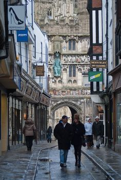 Canterbury Cathedral Christ Church Gate from Mercery Lane, the Capt & I were here in 2009 & 2013..