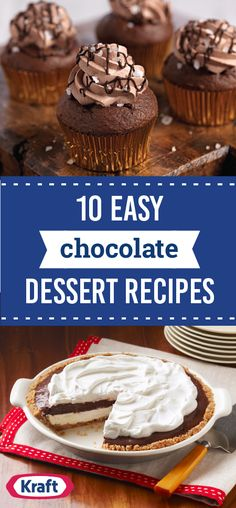 10 Easy Chocolate Dessert Recipes – What could be as awesome as a collection of chocolate dessert recipes? EASY chocolate dessert recipes, of course! Here are tasty chocolate dessert creations anyone can make and enjoy at your next party.
