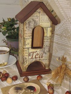 """Купить """" Люблю чай"""" чайный домик - коричневый, Подарок к 23 февраля"""