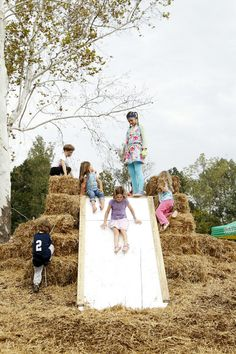 hay slide!  Ben Rose Photography - 2012 Fall Festival at Riverview Landing-Highlights