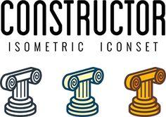 Constructor Icon set Building Materials, Web Design, Icons, Prints, Construction Materials, Website Designs, Icon Set, Site Design, Symbols