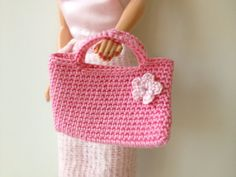 Pink Crochet Barbie Doll Purse by pigswife on Etsy, $5.00