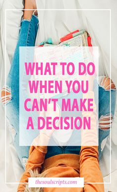 I was so afraid to make the wrong decision, so afraid to choose one and then regret not choosing the other... | How to Make Decisions and Reduce Stress | Read More »