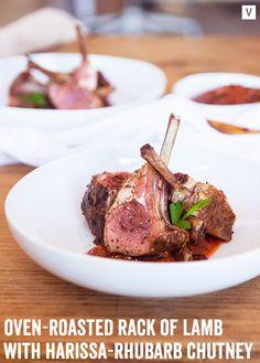 Rack of Lamb with Harissa-Rhubarb Chutney | Cava Grill on Tumblr