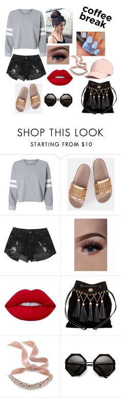 """Coffee prank"" by erinsw14 ❤ liked on Polyvore featuring Lime Crime, Miu Miu and Fallon"