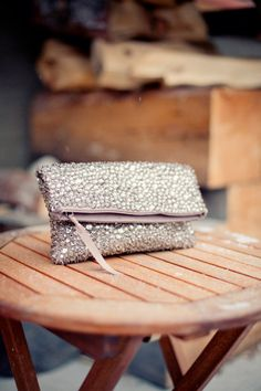 a bridal clutch that had our undivided attention at first sparkle  Photography by http://infusedstudios.ca