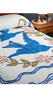 Vintage chenille bedspread. The marks they left on your face after a nap!