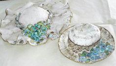 Wall Decor, Wall Art, Vintage Hats, 1920s, Decoupage, Crochet Earrings, Miniatures, Clay, Pottery