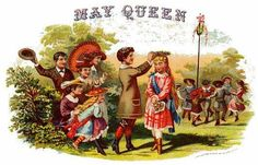 Victorian Cigar Ad - May Day Queen