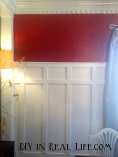 Best tutorial for board and batten, specifically to cover where we took our wall out and drywall is uneven. DIY in Real Life.com: How to install batten walls over less than ideal walls