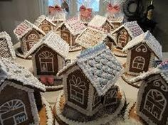 Gingerbread candy houses!!! Bebe'!!! Love these houses!!!