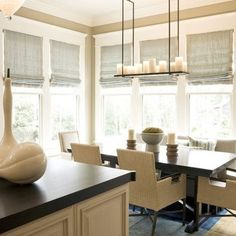 soft roman blinds for multiple windows - Google Search