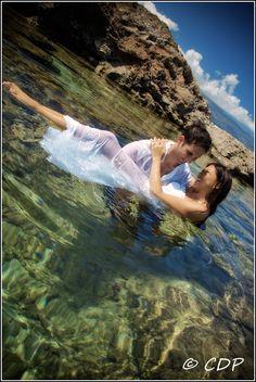 hawaii trash the dress