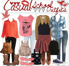 Ok so i got the red shirt outfits for ari, the pink outfit for Ayyliah (if i spelt that right?) The black and skirt outfit for andrea and the Blue flannel for Liv if thats ok? Red Shirt Outfits, Nerd Outfits, Casual School Outfits, Back To School Outfits, Skirt Outfits, Outfits For Teens, Trendy Outfits, Cool Outfits, Fashion Outfits