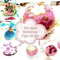 Den Workshopflyer könnt Ihr auf meiner Webseite www.verzaubereien.de als PDF Dokument herunterladen. Workshop, Shops, Flyer, Website, Organic Beauty, Handmade, Atelier, Tents, Work Shop Garage
