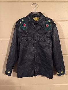 Vintage Pioneer Wear Jacket Embroidery Snap Front  https://www.etsy.com/listing/261185701/vintage-pioneer-wear-southwest-style?utm_source=socialpilotco  #clothing #jacket #shirt #southwest #Pioneerwear #vintageshirt