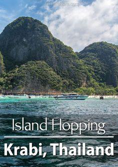 Krabi, Thailand: Island hopping to Koh Phi Phi, Bamboo Island, and more.