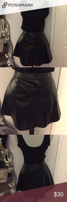 "Nasty Gal Faux leather Skirt Size M Preloved! In good condition! Measures 16"" top to bottom! Flat waist measures 12 1/2"". 🚫Trades! Open to reasonable offers through offer button! Nasty Gal Skirts Midi"