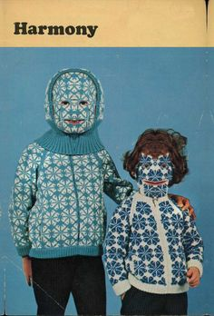 Why settle for boring knitwear when you can have a bizarre and hilarious knitted hat, a full-body sweater, or even something called a Willie Warmer? Arte Fashion, Textiles, Bizarre, Arte Popular, Cursed Images, Weird And Wonderful, Illustrations, Art Plastique, Retro