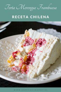 Recipes With Whipping Cream, Cream Recipes, Vegan Recipes, Bolo Pavlova, Merengue Cake, Chilean Recipes, Chilean Food, Raspberry Meringue, Chili