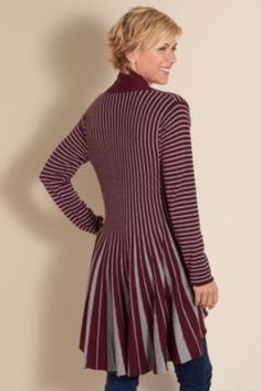 Downtown Topper - Vertical Stripes Top, Toppers, Clothing | Soft Surroundings