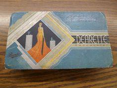 Art Deco Bunte Candy Chicago Vintage Dearette Candy Chocolates Box Flapper Lady | eBay