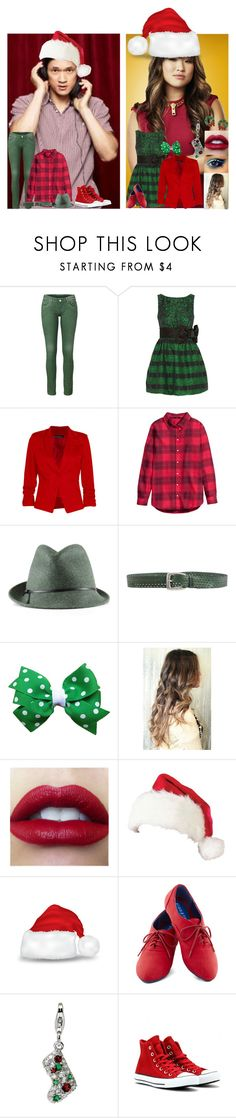 """Glee:Christmas:Mike and Tina"" by glee2shake ❤ liked on Polyvore featuring RED Valentino, Boohoo, H&M, Jigsaw, Orciani, Amore La Vita and Converse"