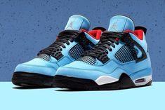67f798d8dcff Air Jordan 4 Travis Scott Cactus Jack Univ Blue Black Varsity statement  sneakers Jordan 4
