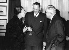 Queen Ingrid, King Frederik IX and Director Erik Ringsted in 1958 by Maersk Line, via Flickr