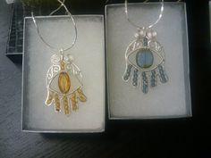Two Hamsa hands for Hanukkah gifts | JewelryLessons.com