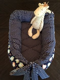 Cozy Flannel Baby Nest or portable Baby Bed by SweetCheeks4Kids