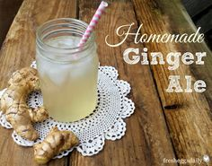 Homemade Ginger Ale and Candied Ginger Slices