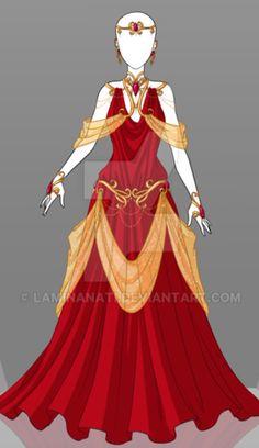Adoptable Outfit Auction 31 by LaminaNati Dress Drawing, Drawing Clothes, Fashion Design Drawings, Fashion Sketches, Fashion Illustrations, Anime Dress, Fantasy Dress, Fantasy Outfits, Dress Sketches