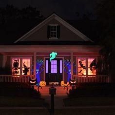 Halloween Decorations Lights Windows