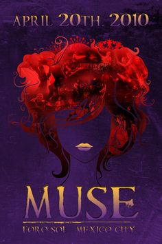 Muse gig poster. Foro Sol Mexico City.