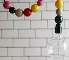Lightlace Hanging Lamp by Dottir + Sonur $159 at Amelia