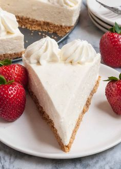 This no-bake vanilla cheesecake is so light and creamy! Top with strawberries, chocolate, or simple whipped cream. Perfect for any dinner party or holiday gathering.